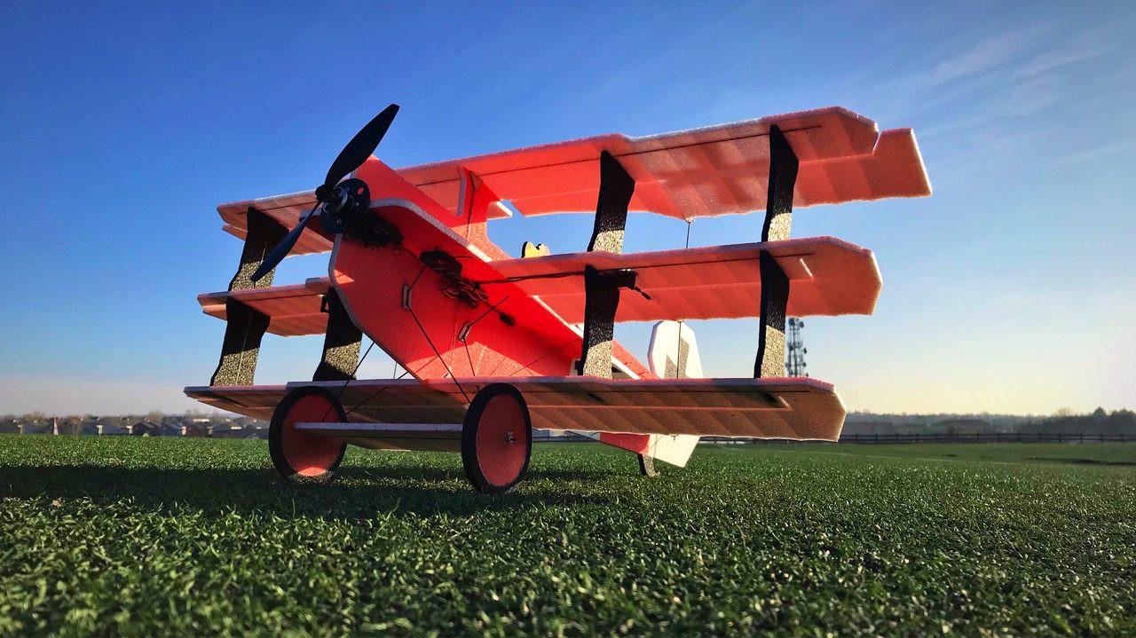 """TH 35"""" EPP Crack Fokker Dr.1 Tri - Red/White"""