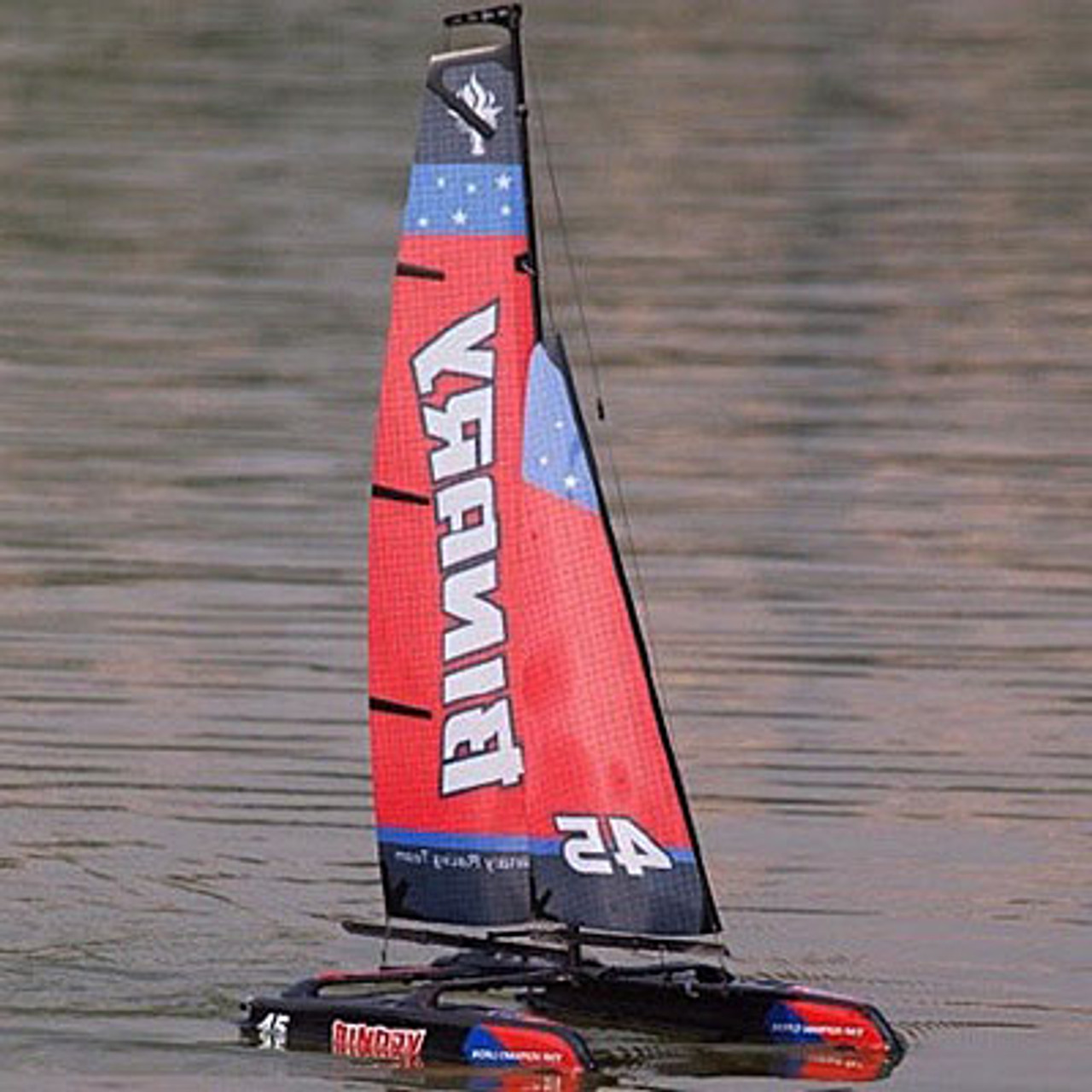 Joysway Binary Red 2.4Ghz Mini Catamaran ARTR RC 8807R