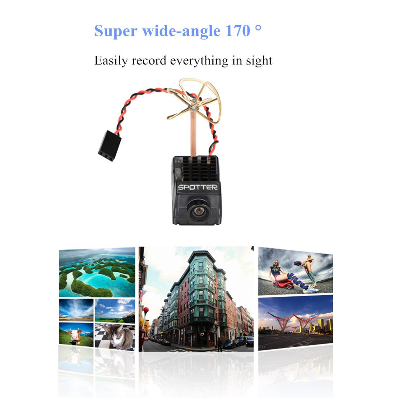 Spotter V2 Micro FPV AIO Camera 5.8G with OSD Integrated Mic