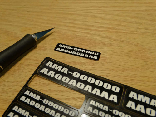 FAA / AMA Labels Custom Label Order - White Letters