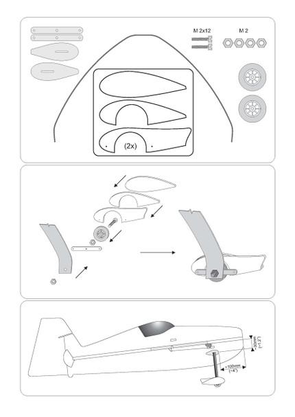 """RcF Landing Gear 30-32"""" RcFactory HD Landing Gear kit"""
