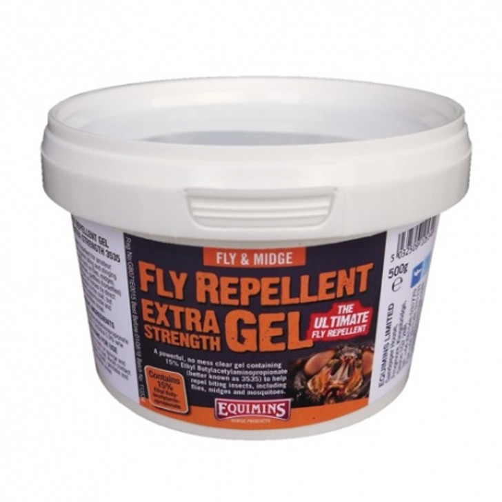 This is an extremely effective and long lasting fly repellent for horses and other animals.  It is a powerful, no mess, extra strength clear gel containing 15% Ethyl Butylacetylaminopropionate, to help repel many biting insects, including flies, midges and mosquitoes.  In extensive trials it proved to be a very effective repellent, especially when compared to products based on Deet. It was both more effective and also, just as important, it lasted considerably longer. Ethyl Butylacetylaminopropionate is also considerably less toxic than Deet.