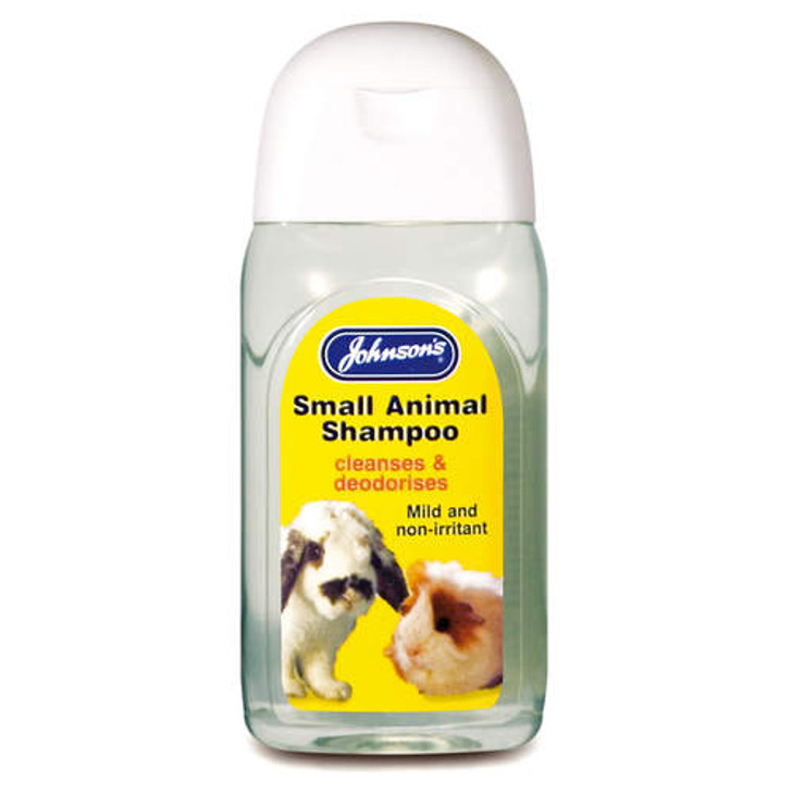 A special mild, non-irritant shampoo for pet rabbits, guinea pigs, ferrets over 12 weeks of age. Gently cleans and deodorises.