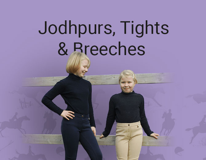 Childrens Jodphurs, tights and Breeches