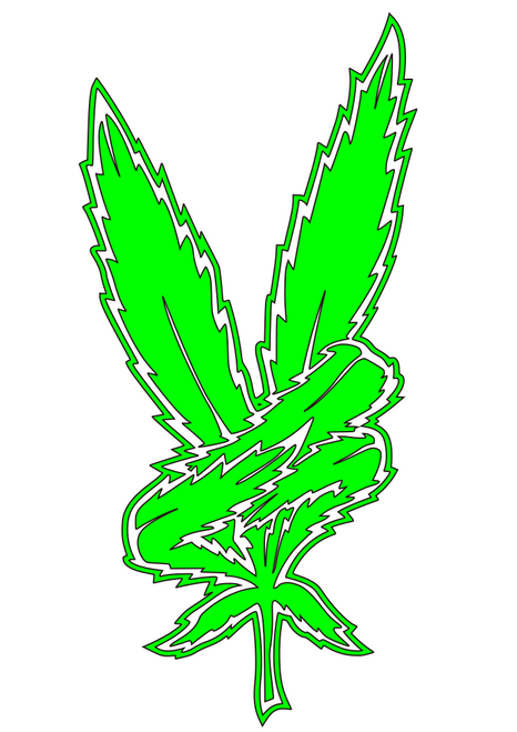 """Peace Leaf"" Decal"