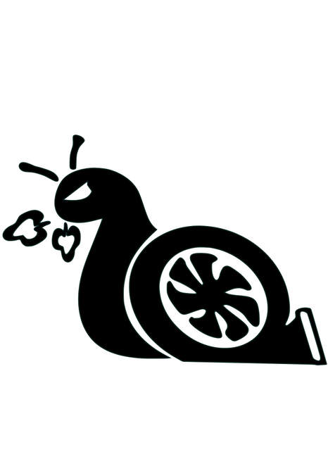 """""""Turbo Snail"""" Decal"""