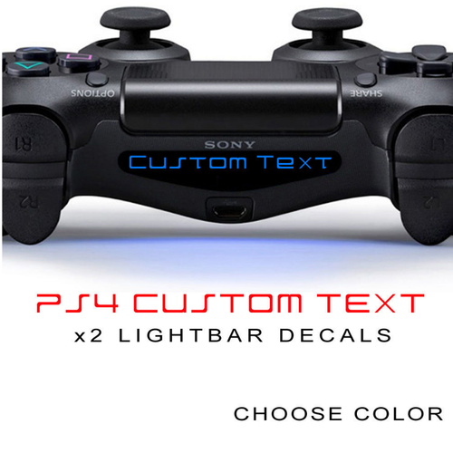 2 Customized PS4 Dualshock 4 Controller Light Bar Decals for Playstation 4
