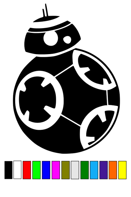 BB8 Star Wars decal sticker from The Force Awakens