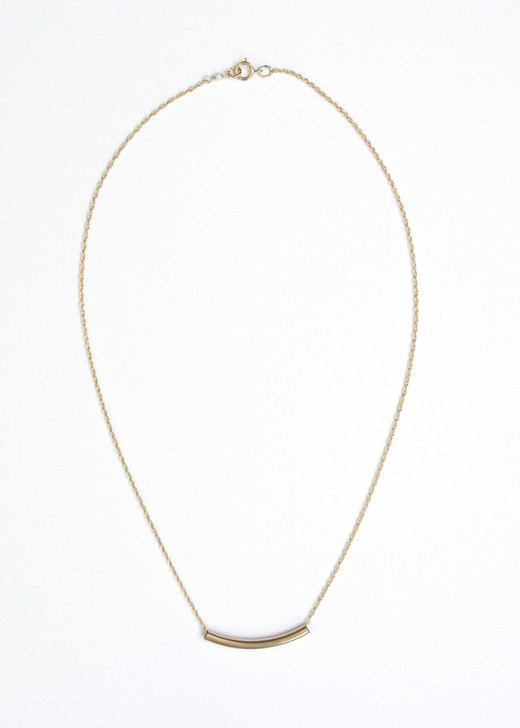 Bar None Necklace- Gold
