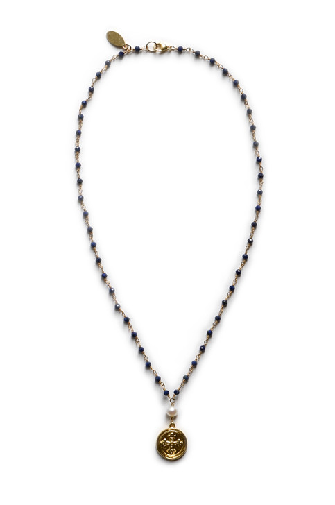 Wentworth Cross Necklace- Lapis