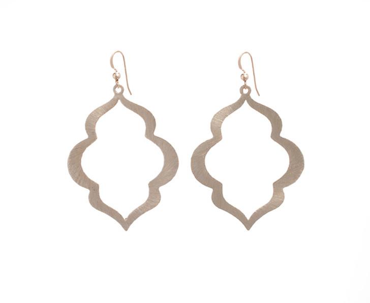 Taj Mahal Earrings- Gold
