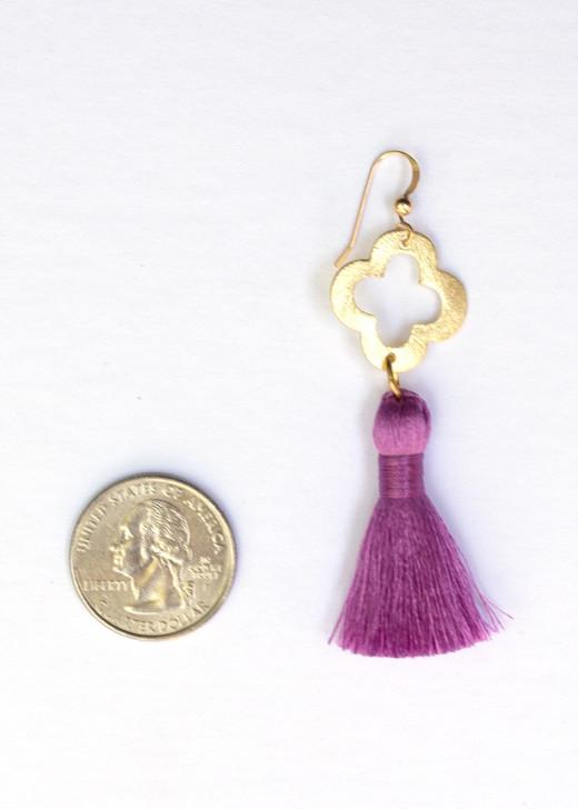 Blakely Tassel Earrings- Lavender