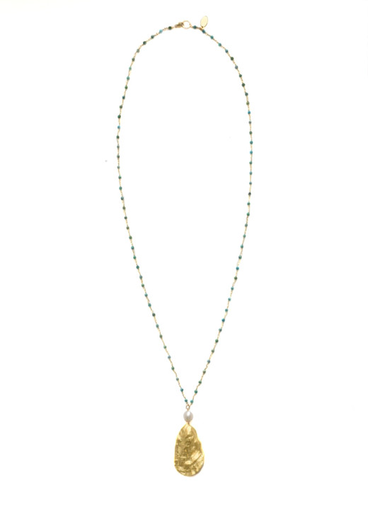 Charleston Oyster Necklace- Turquoise