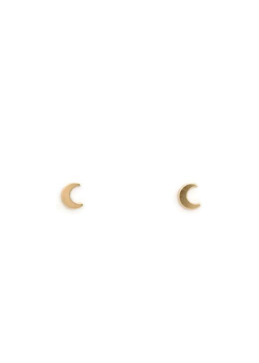 Moon Studs- Gold