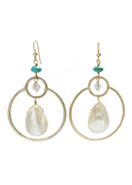 Halley Earrings- Mother of Pearl