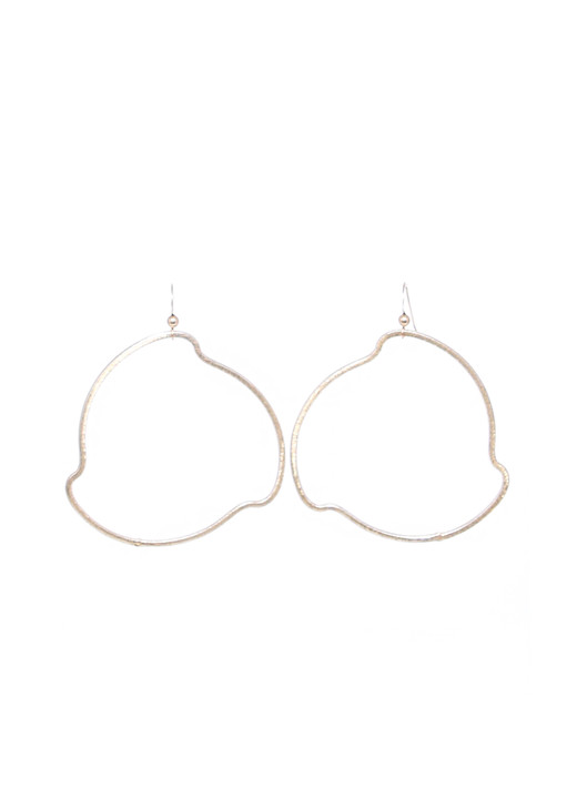 Gold Wavy Hoops- Large