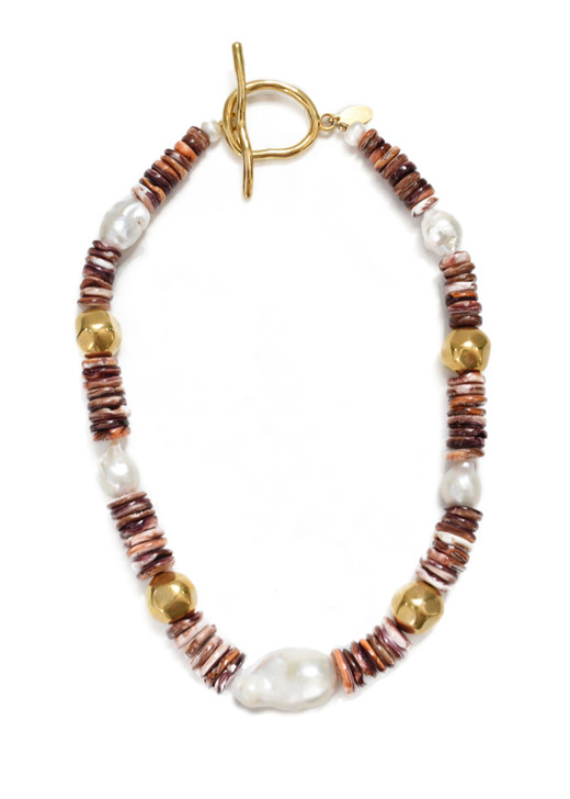 Purple Spiny Oyster Necklace