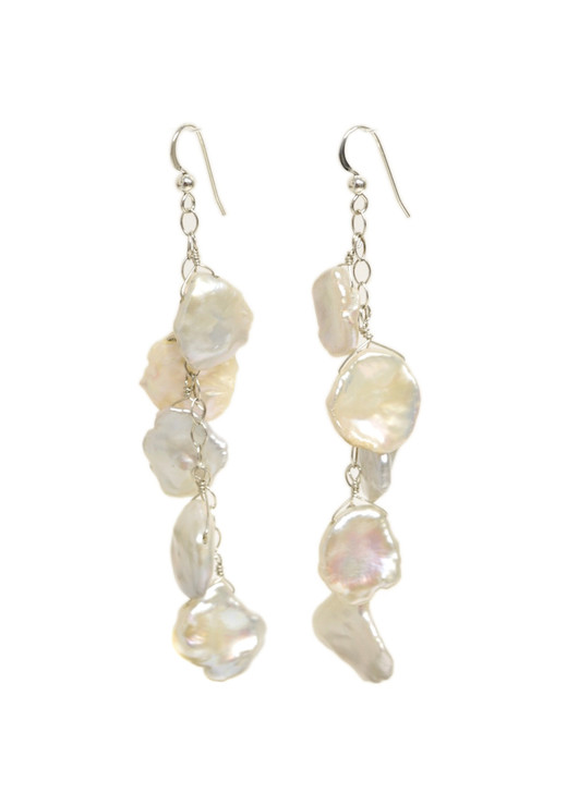 Cascading Keshi Pearl Earrings