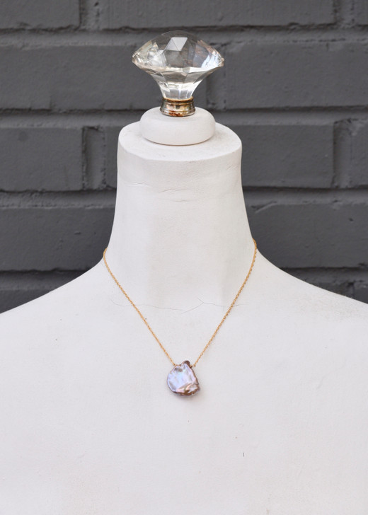 Adelaide Pink Pearl Necklace