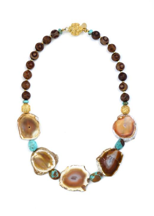 Pueblo Agate Slice Necklace