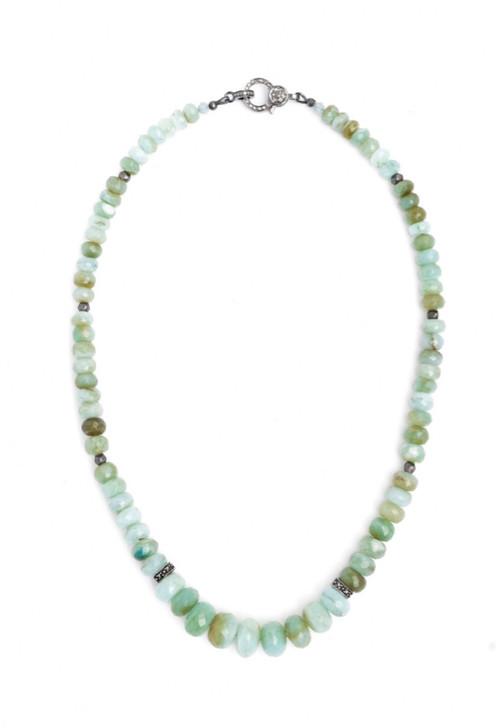 Peruvian Opal and Diamond Necklace