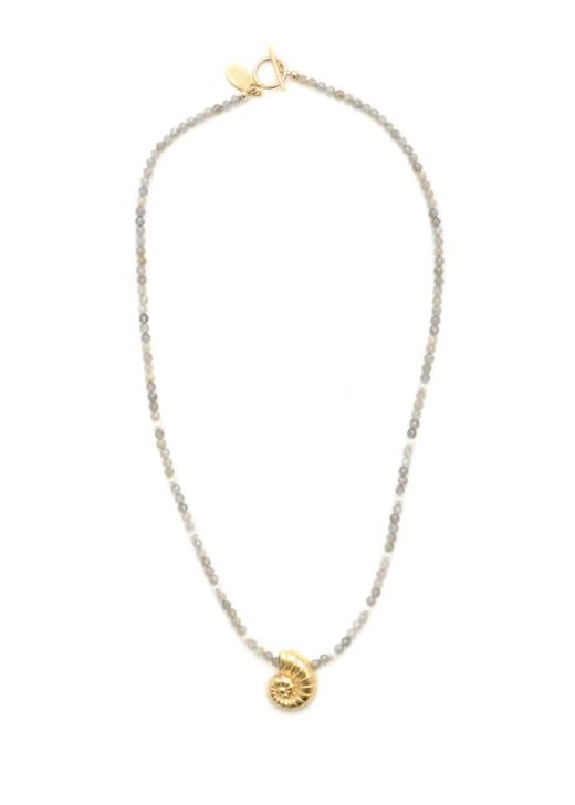 Edisto Nautilus Necklace- Labradorite