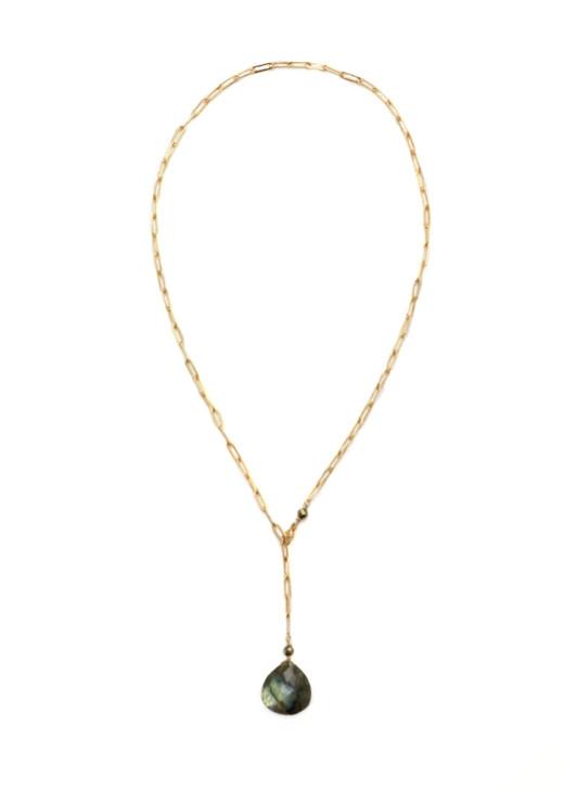 Kinsley Necklace- Labradorite