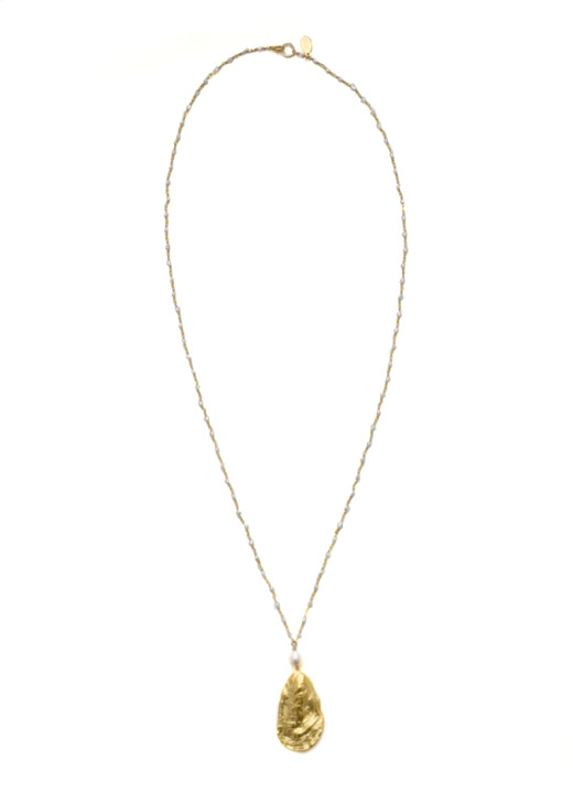 Charleston Oyster Necklace- Pearl