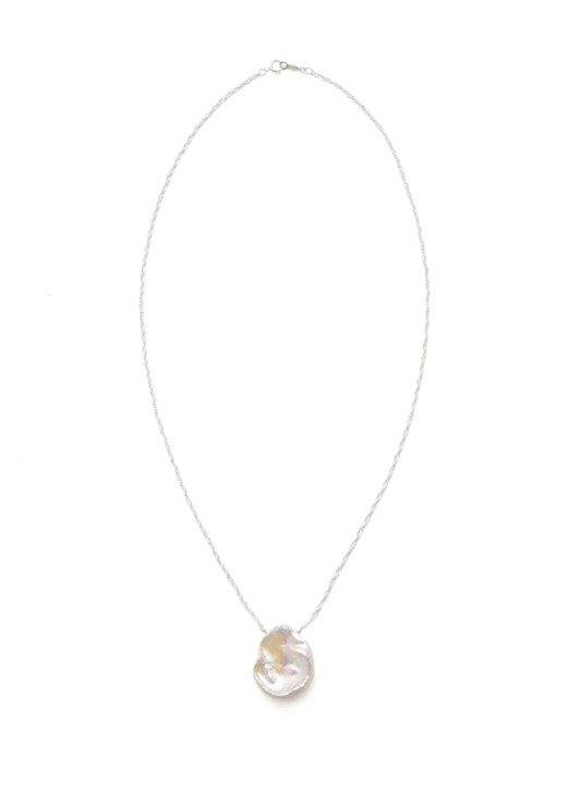 Adelaide Pearl Pendant Necklace- Silver