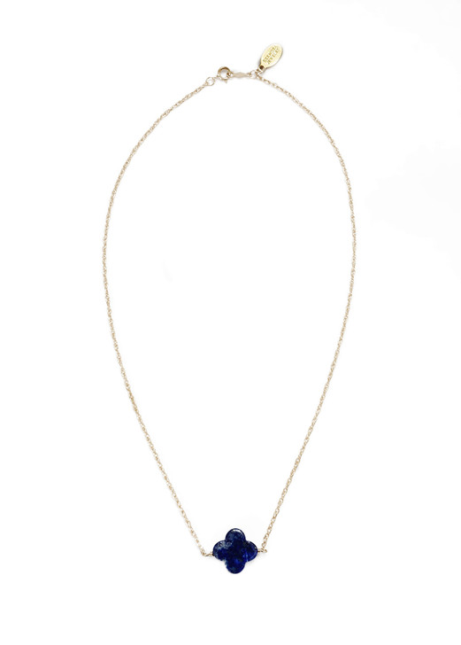 Lapis Quatefoil Necklace