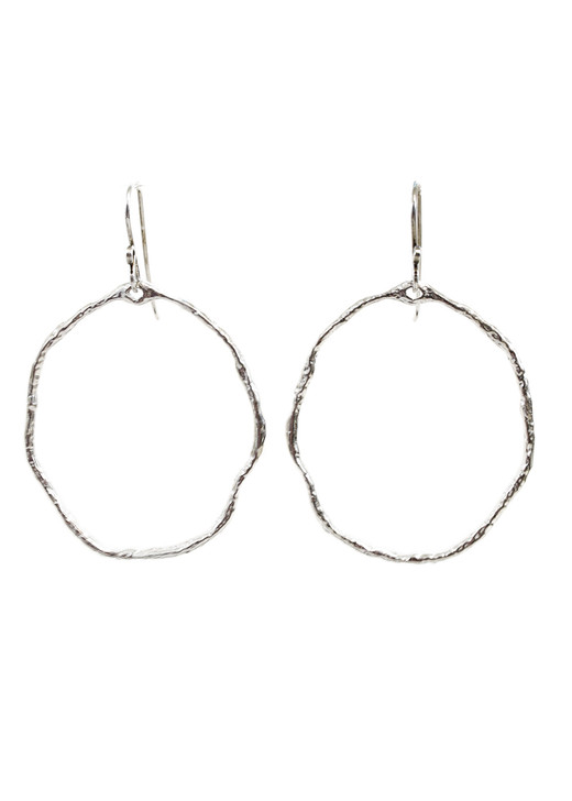 Silver Twiggy Hoops