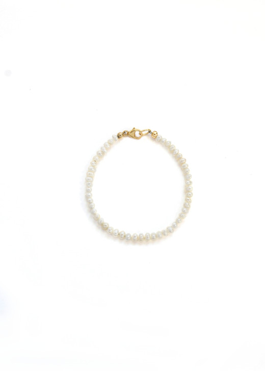 Little Girl Pearl Bracelet- Gold