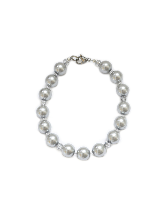 Gray Pearl Dog Collar