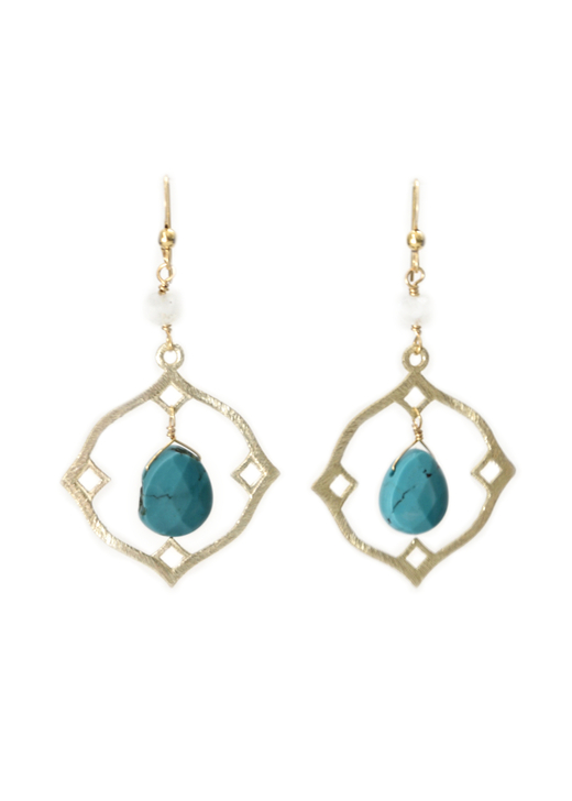 Emerson Earrings- Turquoise