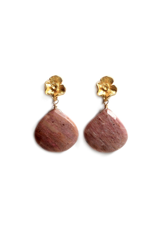 Rhonda Rhodocrosite Earrings
