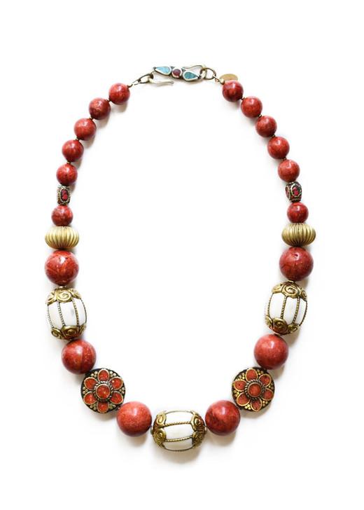 Ipanema Necklace- Coral