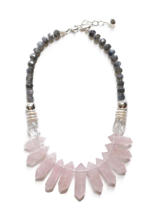 Rayne Rose Quartz Necklace