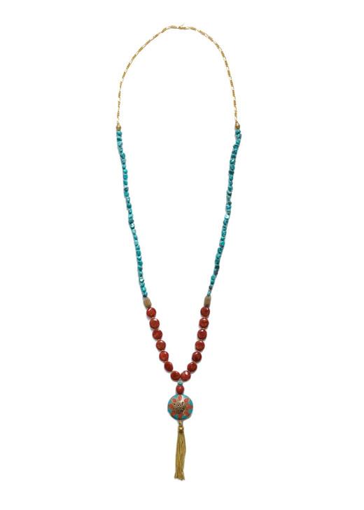 Tibetan Sunflower Necklace