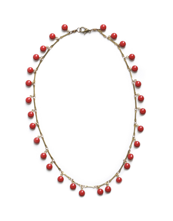 Dancing Dreamer Necklace- Red