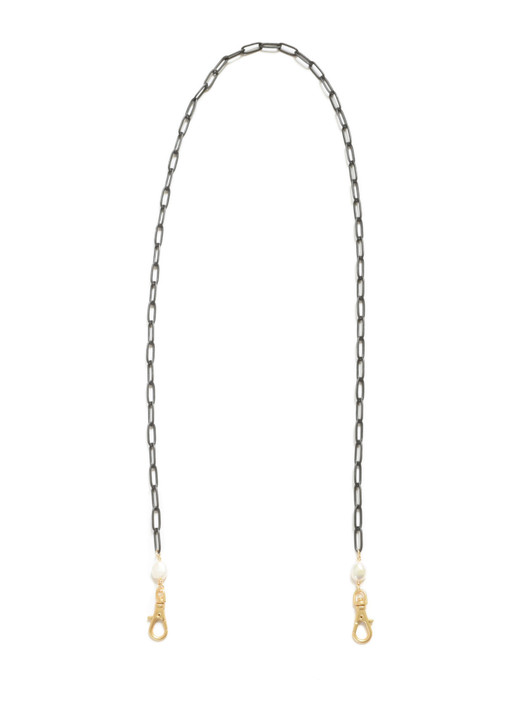 Paperclip Mask Chain- Black Matte