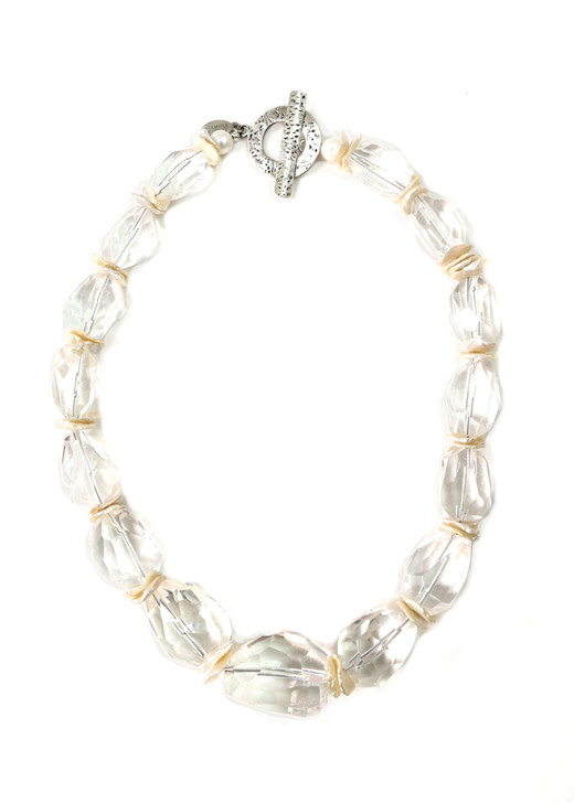 Faceted Ice Crystal Necklace