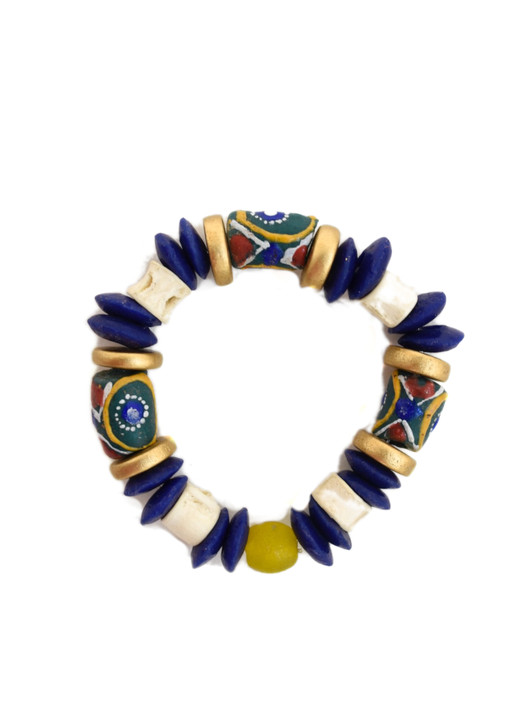 Blue Trade Bead Bracelet