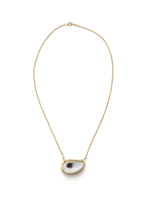 Cooper Oyster Necklace- Gold
