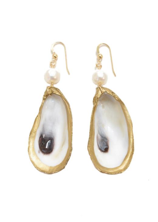 Lowcountry Oyster Earrings- Pearl
