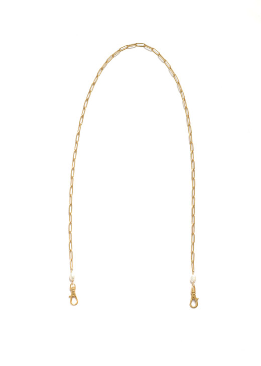 Paperclip Mask Chain- Matte Gold