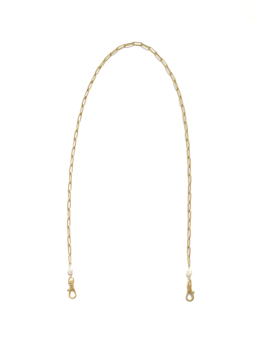 Paperclip Eyeglass Chain- Matte Gold