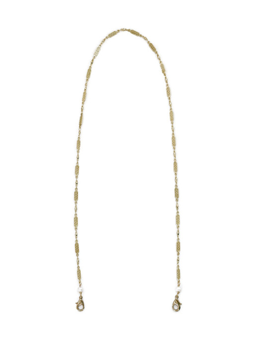 Delicate Filigree Mask Chain- Gold