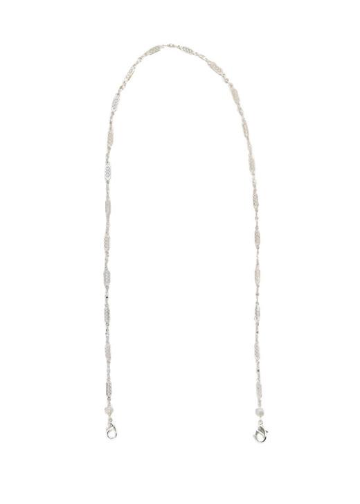 Delicate Filigree Mask Chain- Silver