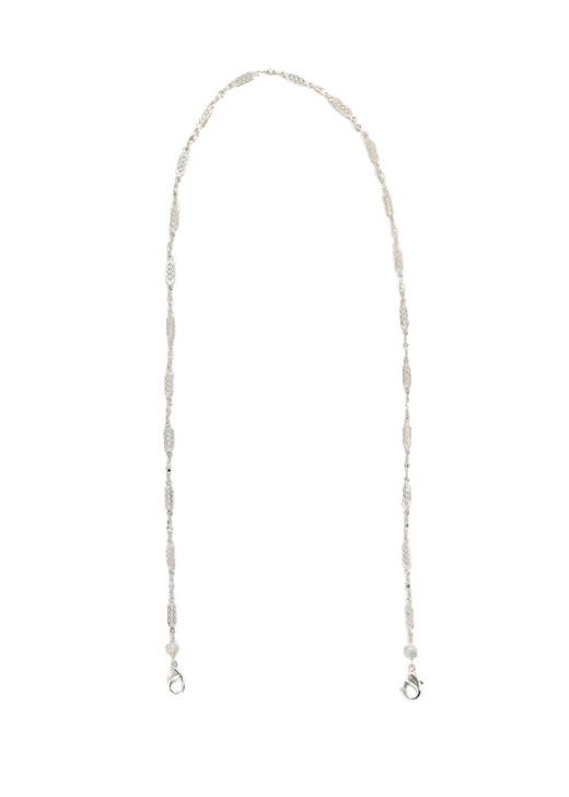 Delicate Filigree Mask Chain- Silver