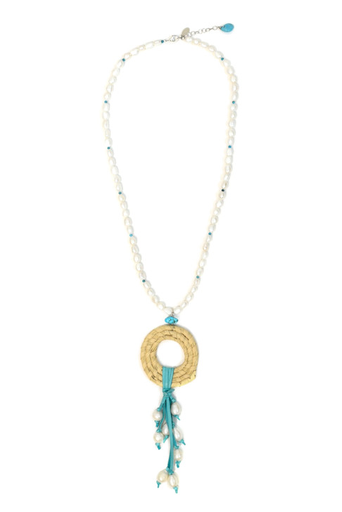 Swoon Sweetgrass and Pearl Necklace